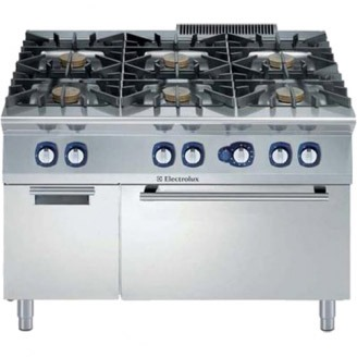 Electrolux gasfornuis - gas oven - 6-pits - draaideurkast - e9gcgl6c1m