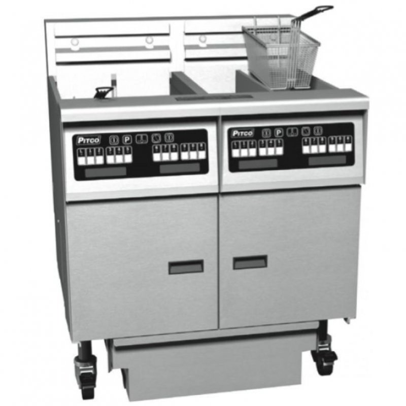 Pitco friteuse solstice gas sg14s digital