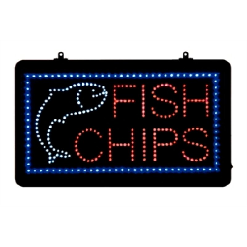 Bolero led display fish & chips