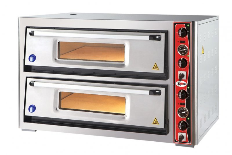 Pizzaoven gmg 2x6(30cm), 2 kamers breed model