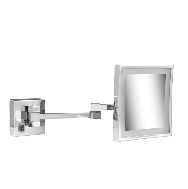 Geesa Mirror Cosmetic collection Scheerspiegel, 2 armen, LED verlichting, 3x vergrotend, 205x205 mm
