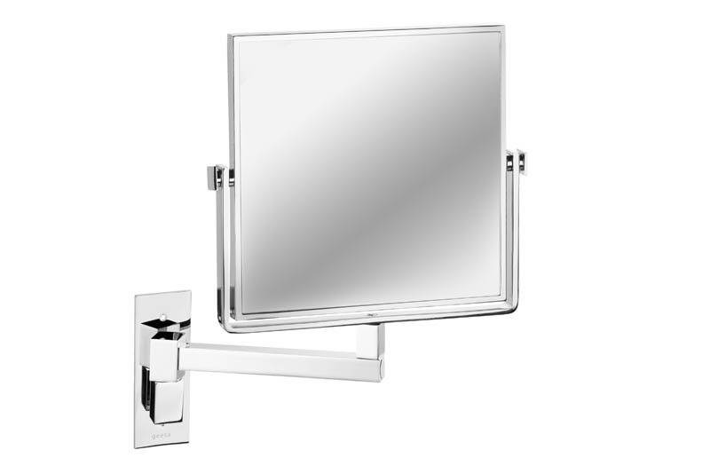 Geesa Mirror Cosmetic collection Scheerspiegel, 1 arm, normaal en 3x vergrotend, 190x190 mm