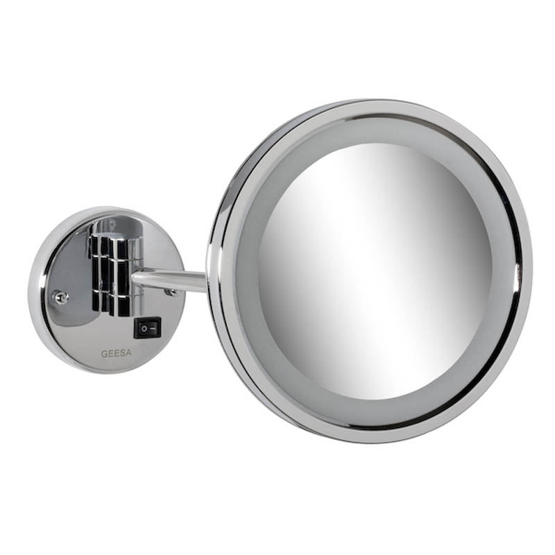 Geesa Mirror Cosmetic collection Scheerspiegel, 1 arm LED verlichting, 3x vergrotend, 215 mm