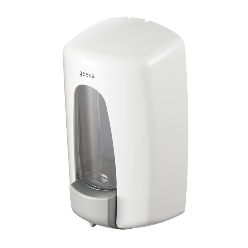 Geesa Public area collection Zeepdispenser ABS Wit 900 ml