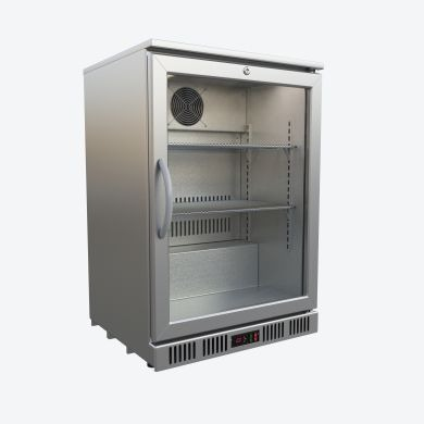 Topcold barkoeling luxe 1 glasdeur laag model RVS (h) 87 cm - BB1/LUX