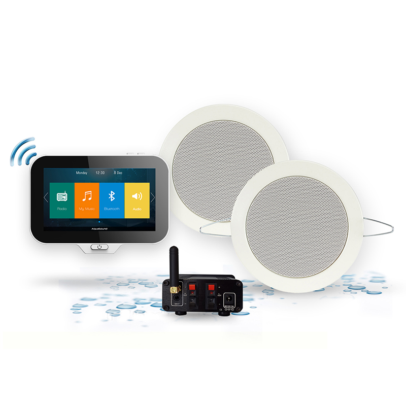 Aquasound N-JOY MUSIC CENTER,  CONTROLLER (IPX7) + WAND LADER +TWIST SPEAKERSET + MINI-BOX / 50 WATT