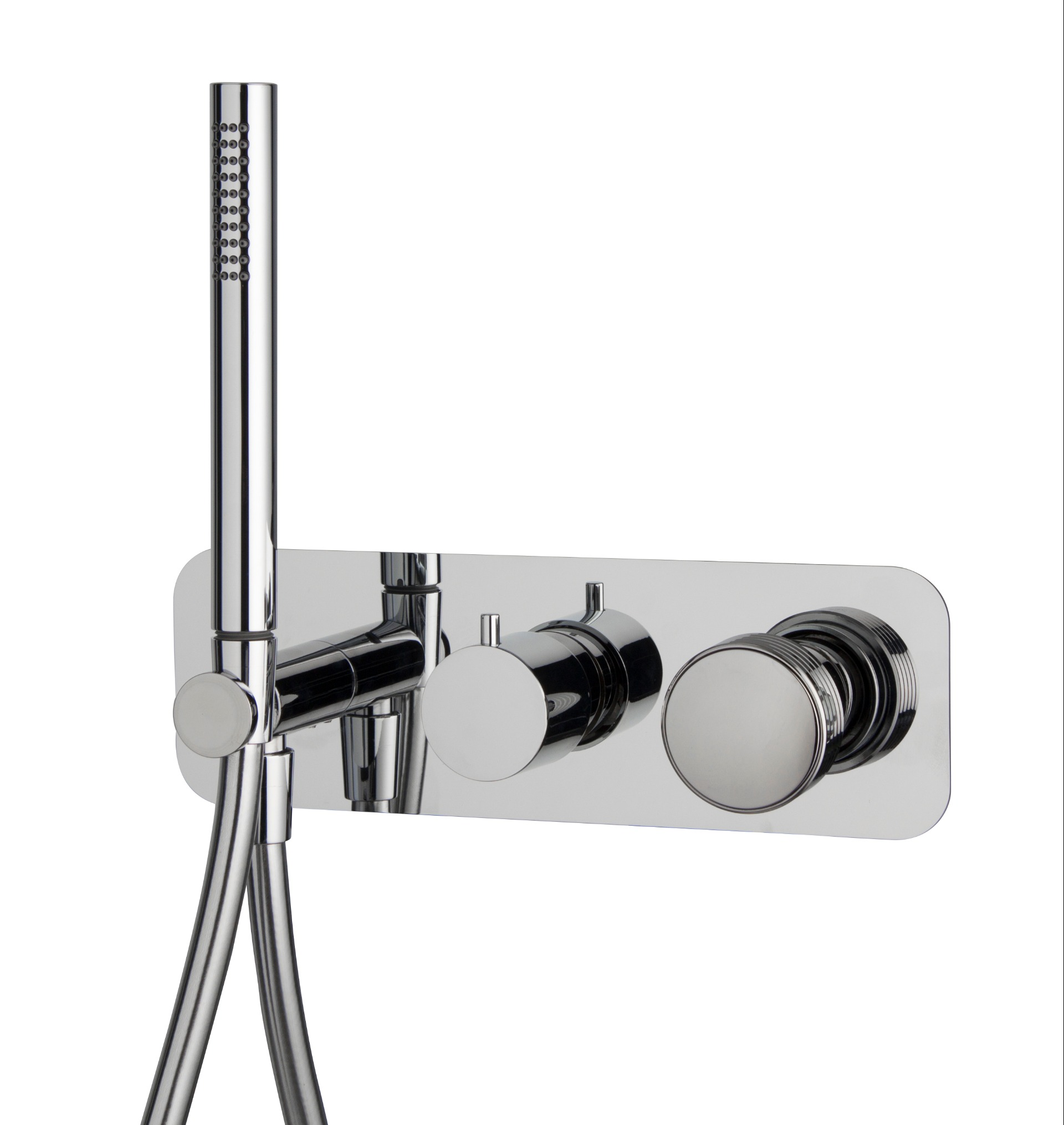 Fima serie Texture Collection inbouw douchekraan met handdouche chroom