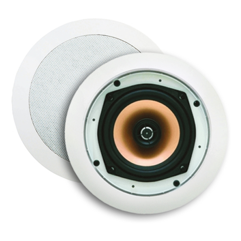 Samba speakerset (draaibare Tweeter), Wit (afm. Rond 215 mm)