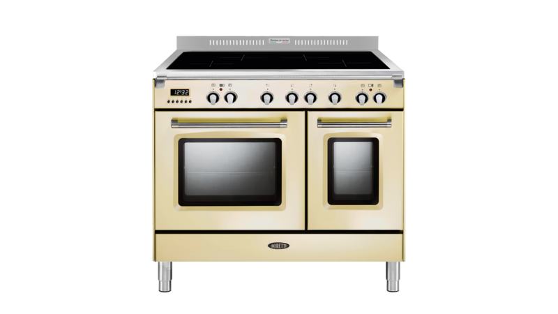 Boretti Toscana fornuis 90cm inductie 2 ovens 4zn oud wit