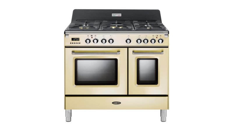 Boretti Toscana fornuis 90cm 2 ovens 5br oud wit