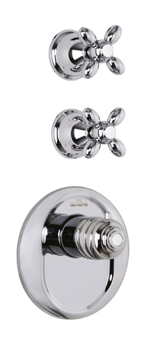Fima serie Fimatherm douche / bad thermostaatkraan chroom