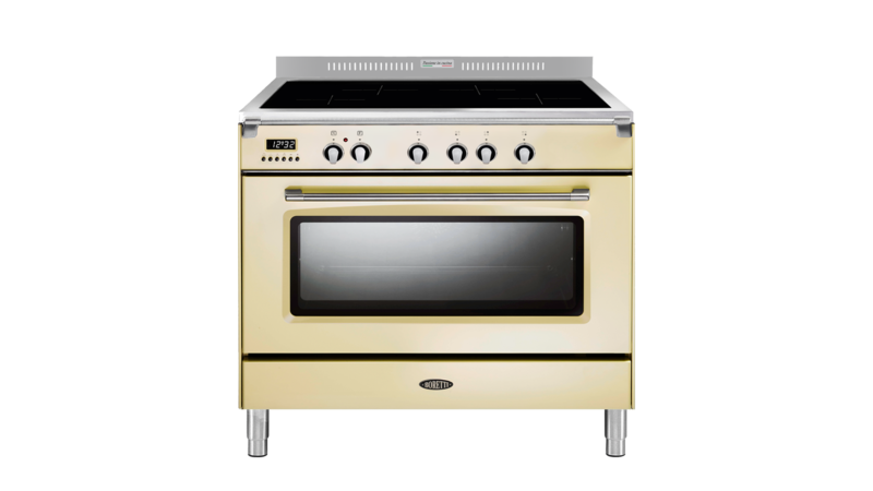 Boretti Toscana fornuis 90cm inductie 1 oven 4zn oud wit