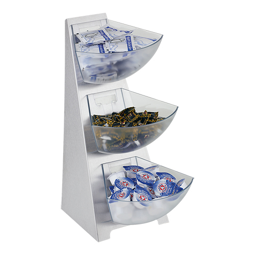 Dispenser rack 3-etages rvs