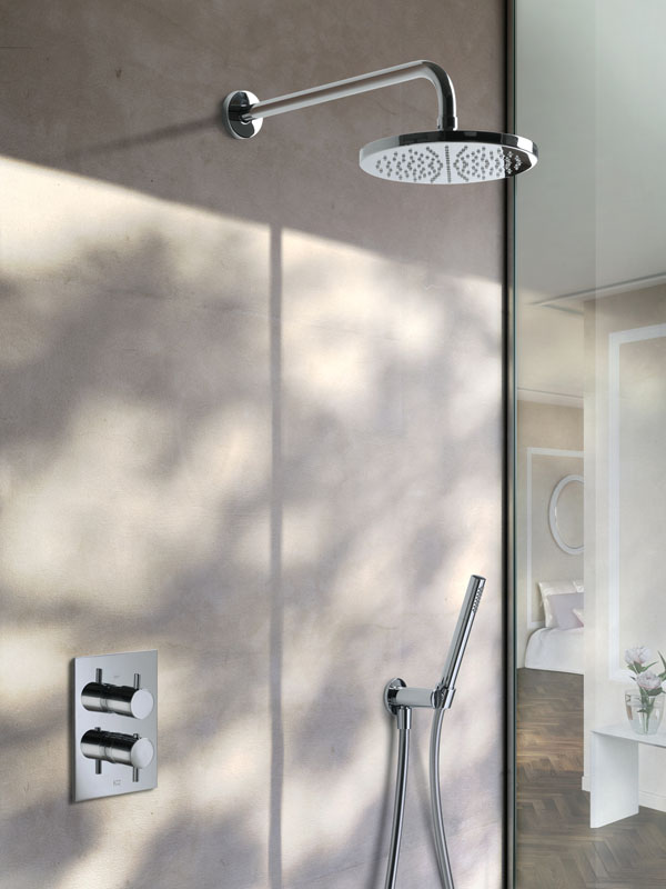 Complete thermostatische douche set inbouw chroom