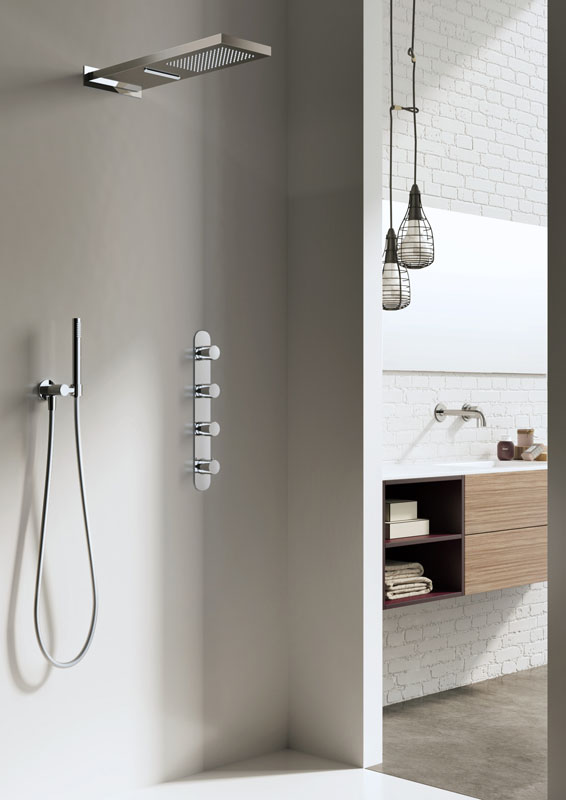 Hotbath serie Buddy complete thermostatische douche set inbouw chroom