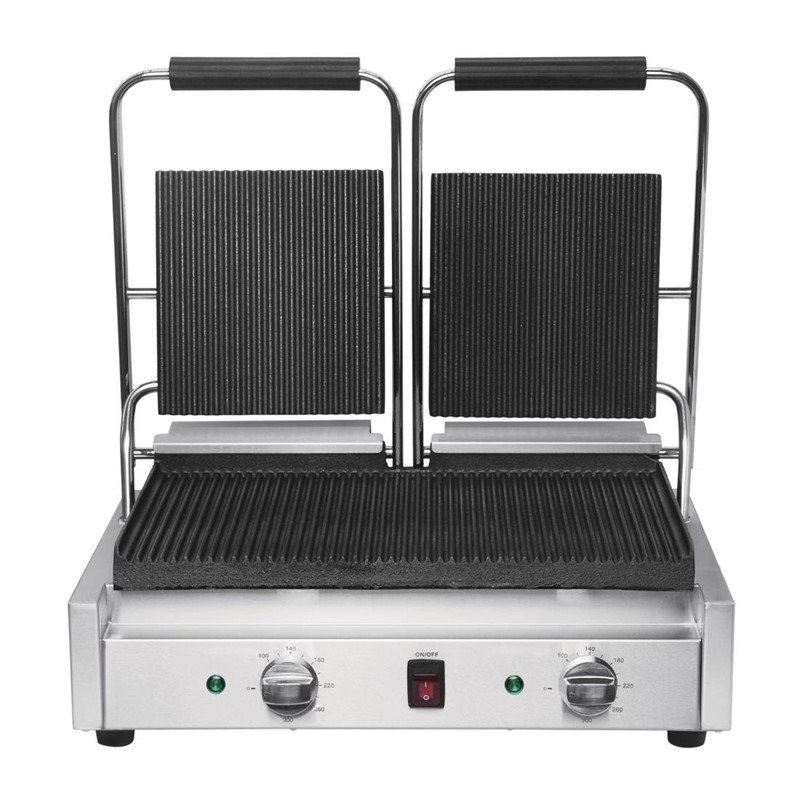 Buffalo Bistro dubbele contactgrill groef/groef - DY994