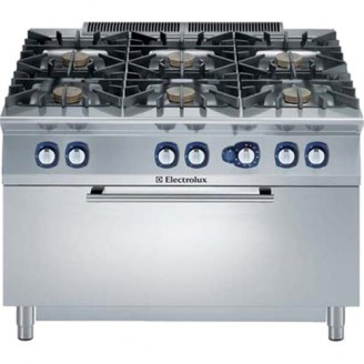 Electrolux gasfornuis - gas oven - 6-pits - e9gcgl6clm