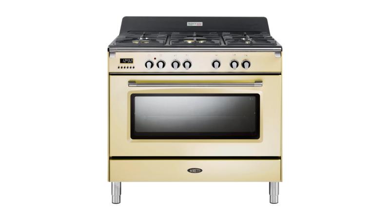 Boretti Toscana fornuis 90cm 1 oven 5br oud wit