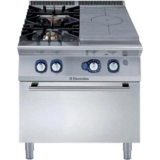 Electrolux gas doorkookplaat - 2-pits - gas oven - staand model - e9stgh30g0